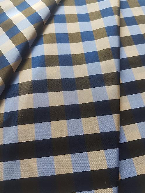 Тафта пепит санжен синьо,жълто,лилаво
