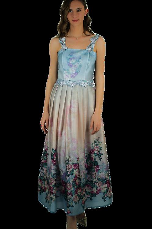 Дълга рокля от органза