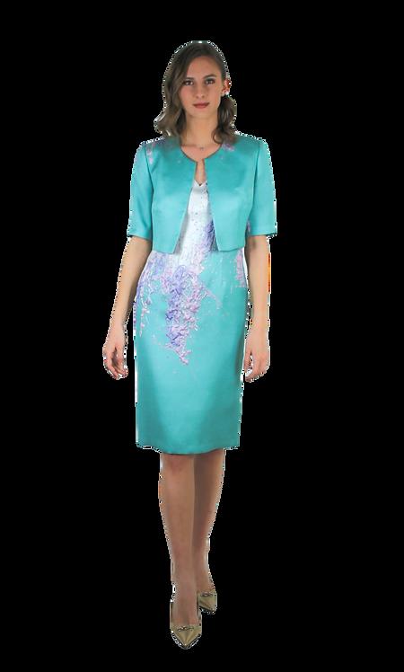 Рокля със сако от 3D плат