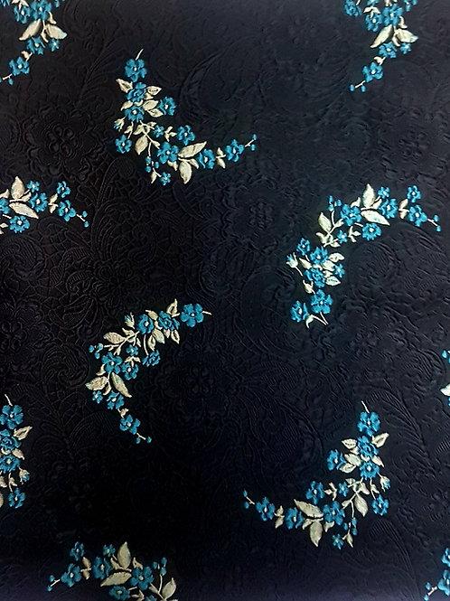 Жакард в черно на малки цветя ARMANI