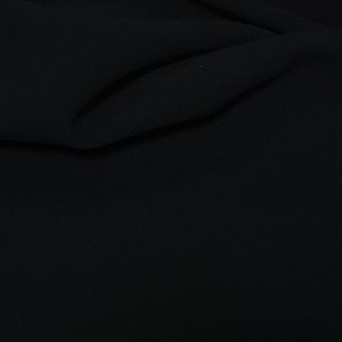 Вълнен плат в наситен черен цвят