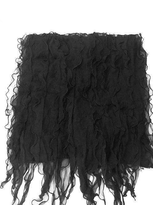 Черен Шал коприна  Basile