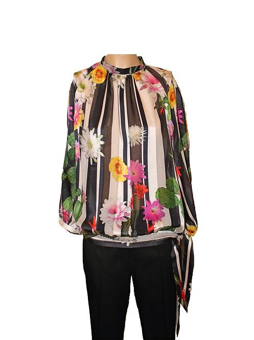 Копринена блуза Сатен Шифон