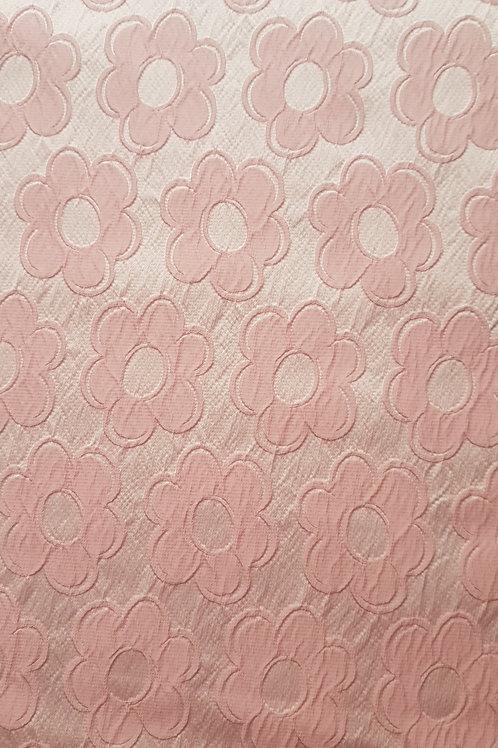 Жакард в розово на  малки цветя