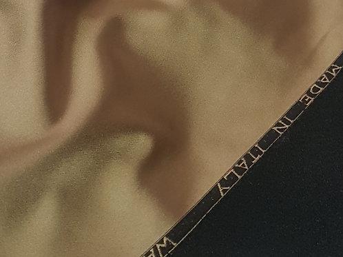 Плътен ластичен сатен тъмно злато