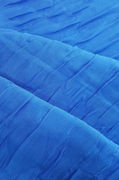 Коприна двупластова в синьо