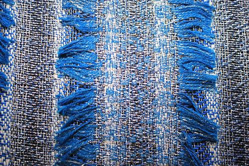 Букле Меланж Електрик синьо и злато Chanel