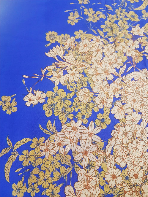 Синя Коприна на Цветя