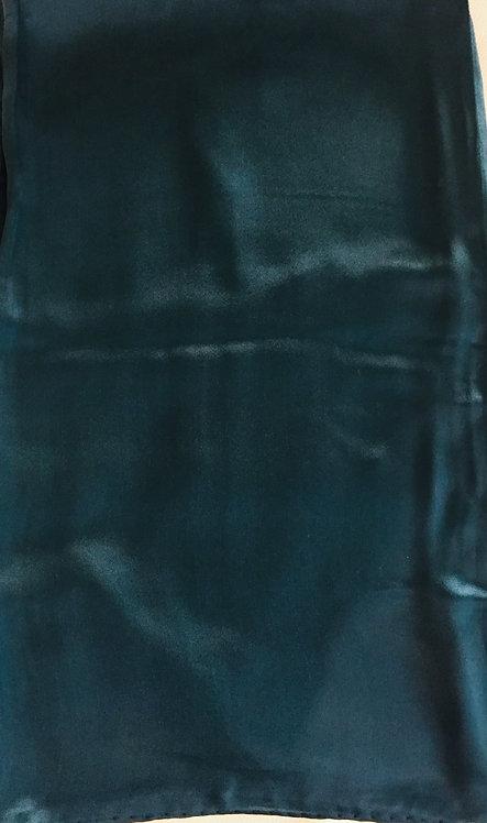 Тъмно зелен Шал Сатенирана Коприна Coveri Collection
