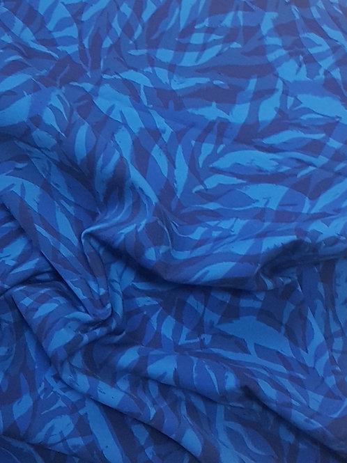 Плътен ластичен плат в синя гама