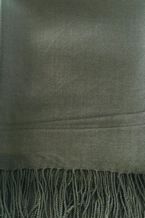 Зелено/Сив  Шал Вълна Kашмир Coveri Collection