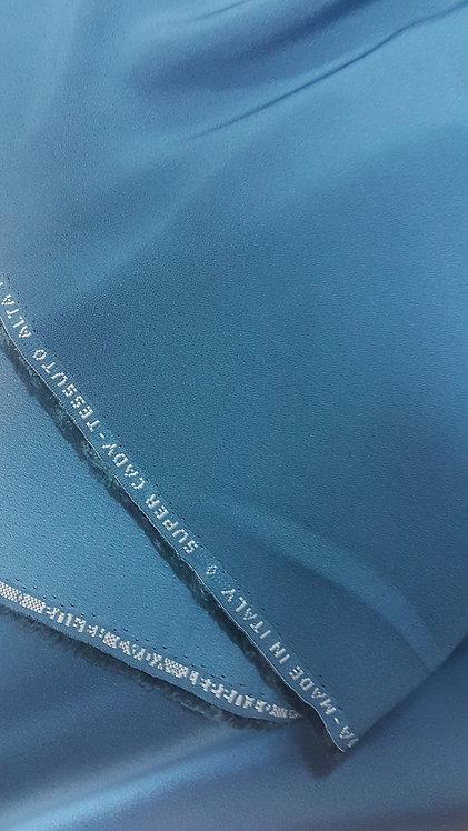 Сатенирана вискозна коприна цвят петрол Cady