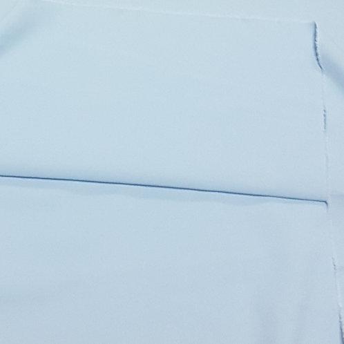Светло син плътен памук рипс