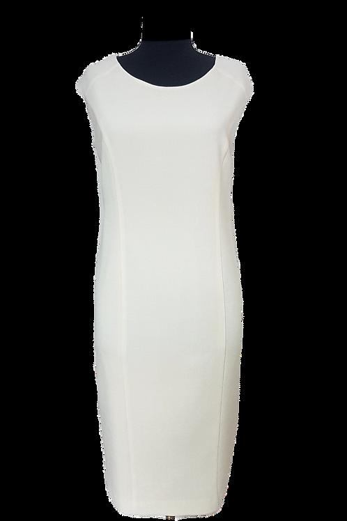 Рокля от Вълнен жоржет в цвят шампанско