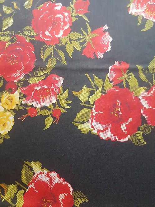 Вълна сатен на цветя Dolce&Gabbana