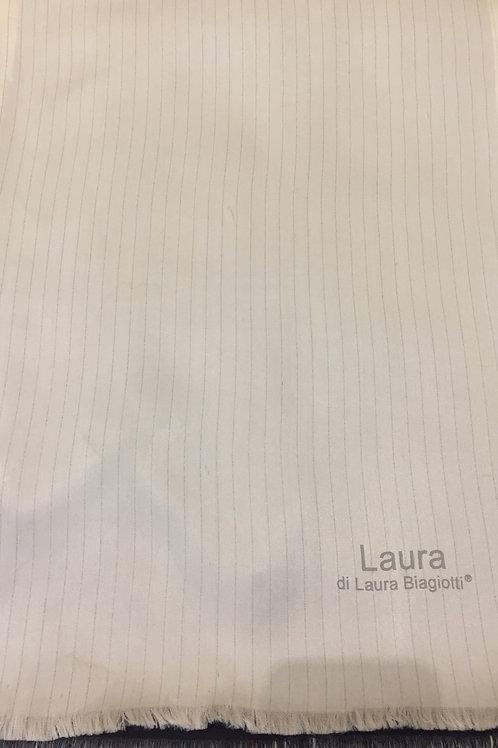 Бяло/Черно Мъжки Шал Двулицев Laura Biagiotti