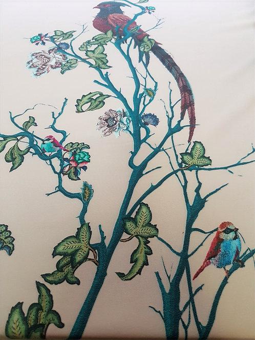 Плътна коприна ,Панел птички Alberta Ferretti