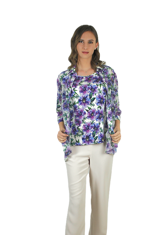 Комплект блуза и потник от коприна
