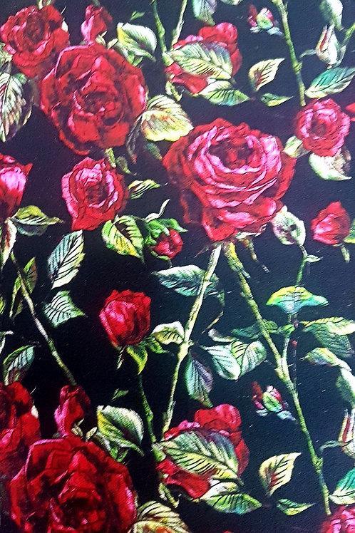 Вълнен Жоржет на рози Dolce&Gabbana