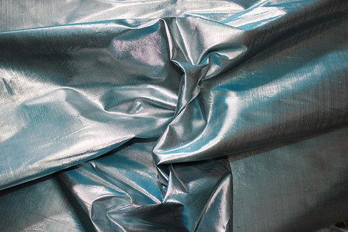 Синя сребриста  санжен тафта
