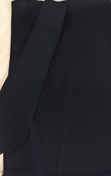 Черен Комплект Шал с Вратовръзка Коприна Basile