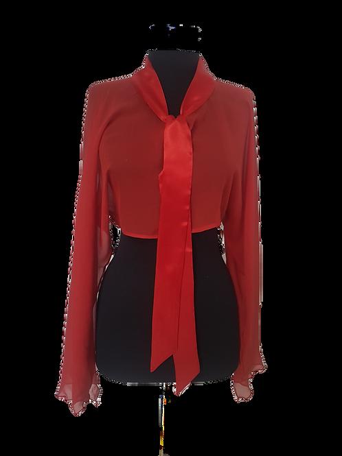 Червено копринено Болеро Basile