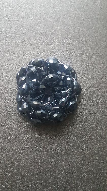 Тъмно син елемент -брошка, копче
