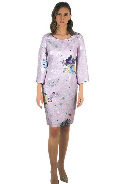Бледо лилава рокля с лурекс
