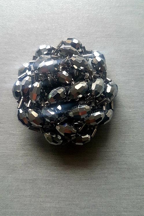 Сребърен елемент -брошка, копче
