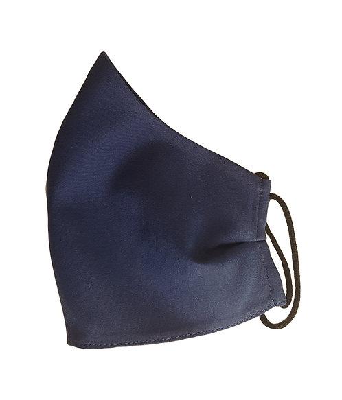 Тъмно синя Маска от коприна