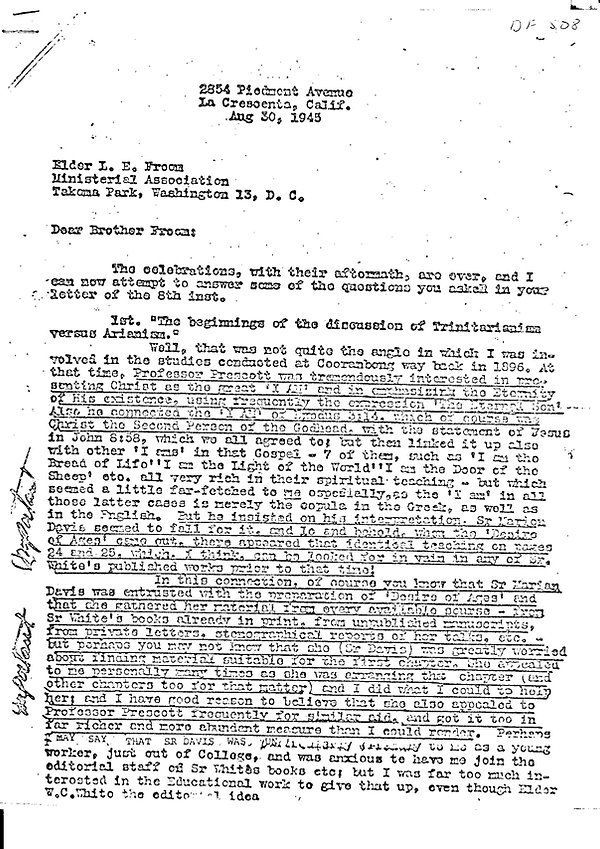Lacey to Froom Letter Aug30, 1945-pg1.jp