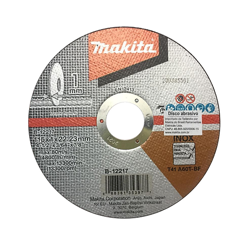 Disco Abrasivo 115mm B-12267 - Makita