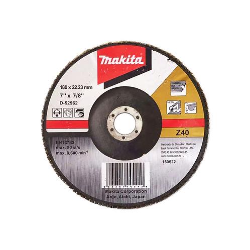 Disco Flap 180mm Grão 40 D-52962 - Makita