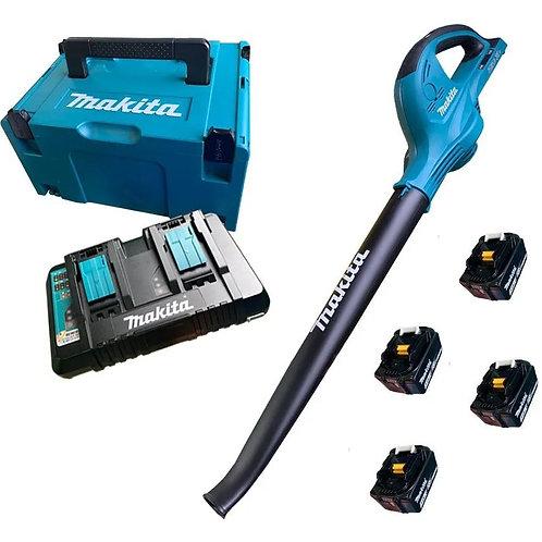Soprador de Ar Folhas + Kit com 4 Baterias + Carregador + Maleta DUB361Z-KIT Mak
