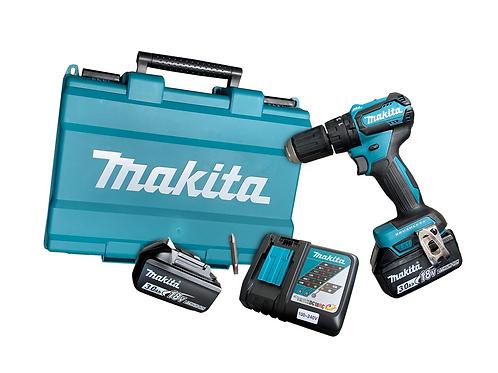 Furadeira de Impacto DHP483RF3 + 2 Baterias, Carregador e Maleta - MAKITA