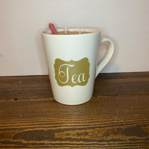 Tea mug candle