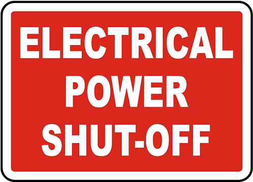 Electric Shut Off Sign