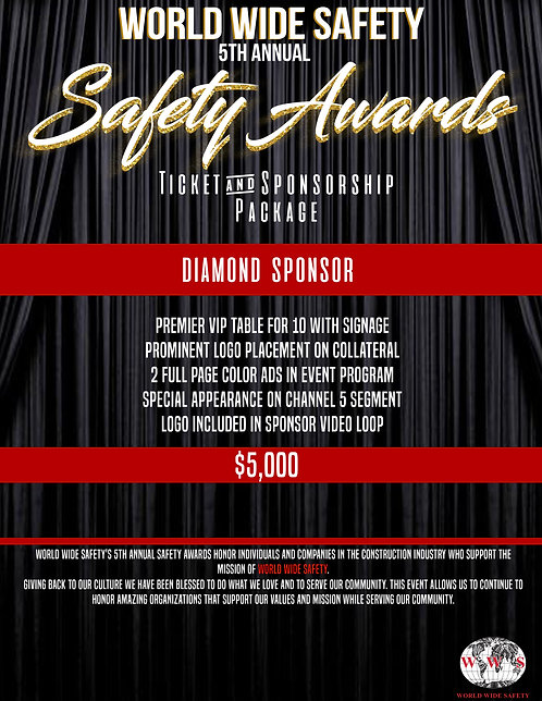SAFETY AWARDS DIAMOND SPONSORSHIP