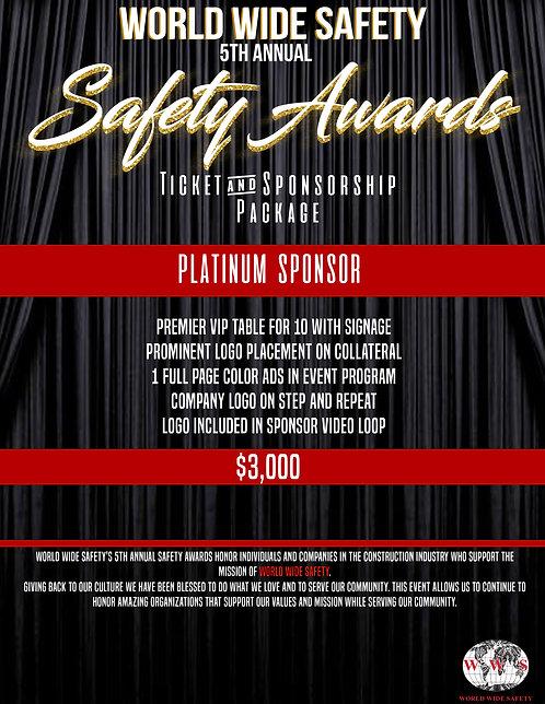 SAFETY AWARDS PLATINUM SPONSORSHIP