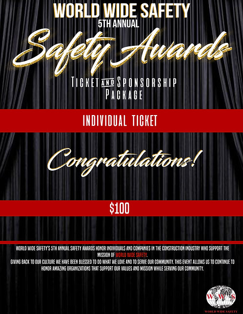 SAFETY AWARDS INDIVIDUAL TICKET