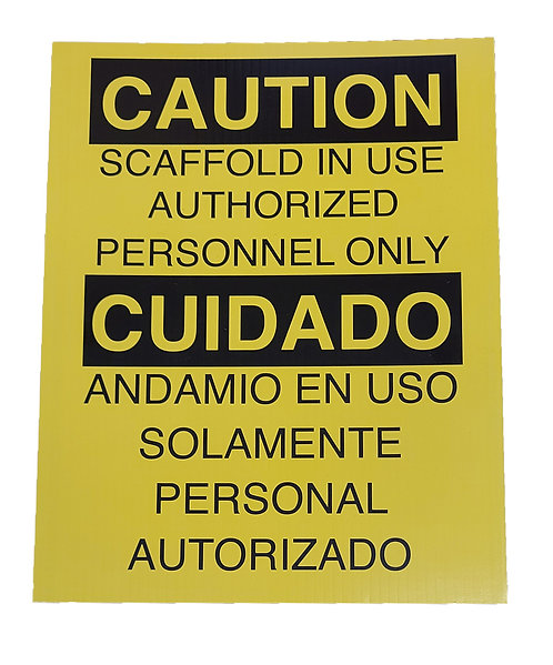 Caution Scaffolding Sign (Yellow)
