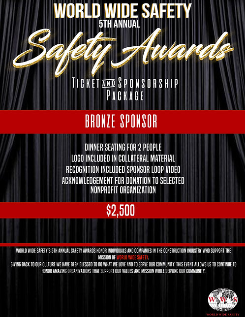 SAFETY AWARDS BRONZE SPONSORSHIP