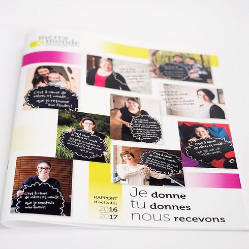 Rapport annuel  / photo et graphisme
