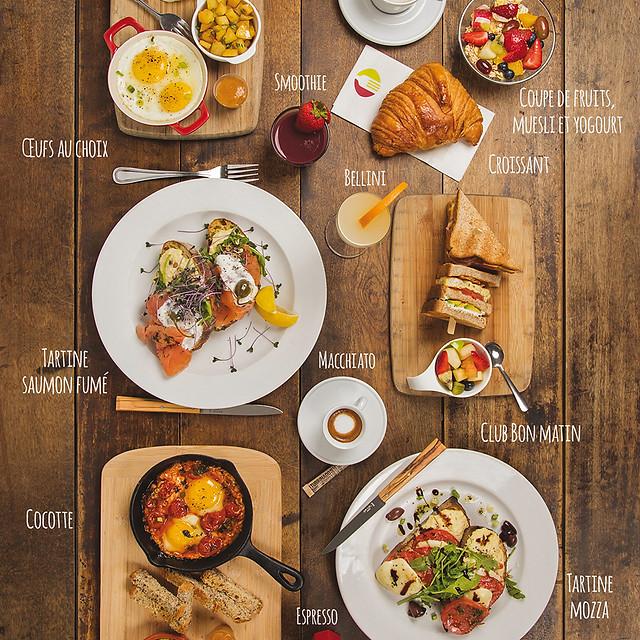 Menu matin / photo et infographie