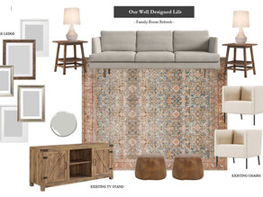 """Small Talk: Our Family Room Plans, The """"Found"""" DIY & More!"""