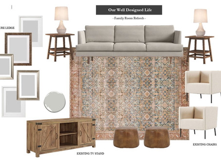 "Small Talk: Our Family Room Plans, The ""Found"" DIY & More!"