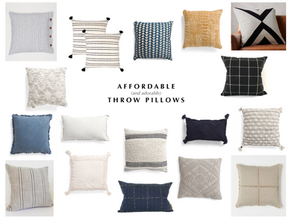 Life Lately + Affordable Throw Pillows