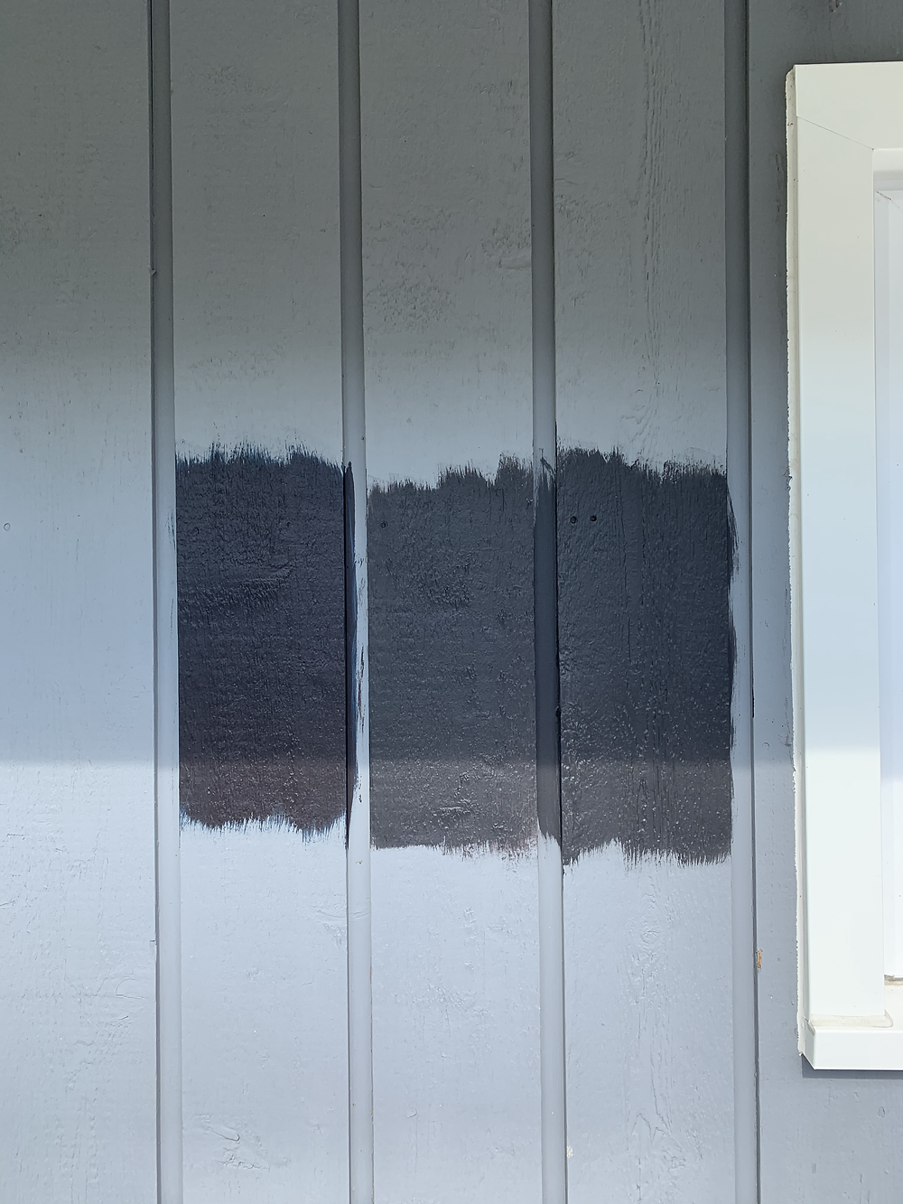 Paint Colors From Left to Right: Tricorn Black, Caviar and Black Magic