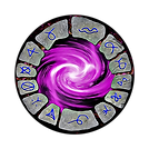 A circle of rune stones with a swirling vortex in the center. Used as a navigation portal.