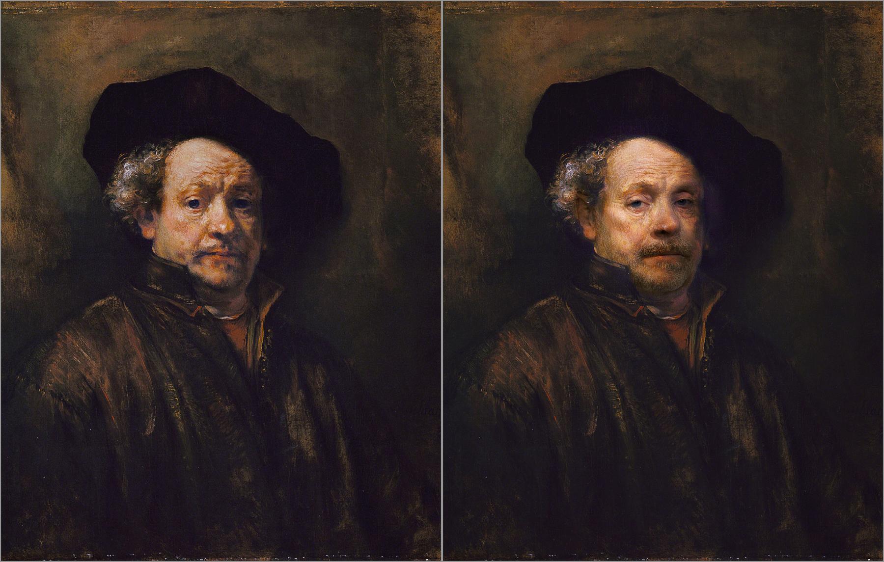 Rembrandt van Rijn, Self Portrait, 1660, Chris Golson.